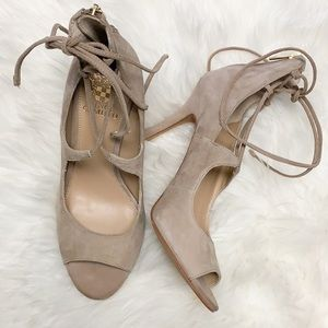 NWOT Vince Camuto lace up suede heels